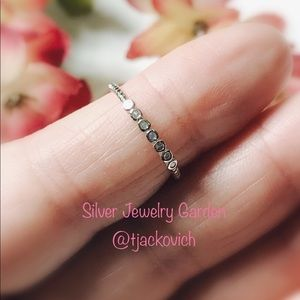 Sterling Silver CZ Stackable Ring
